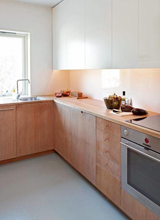 cozinha simples e neutra