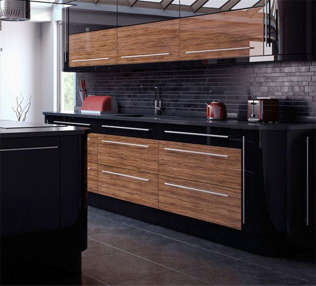 Cozinha planejada moderna preta.