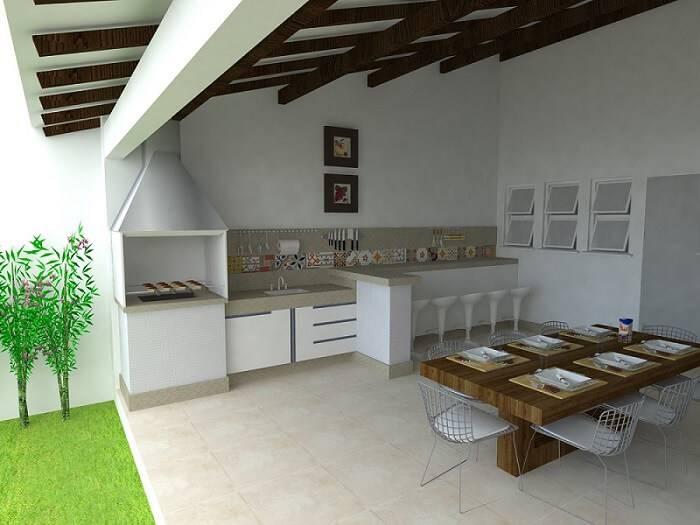Entre os modelos de edícula utilizado para lazer, os com área gourmet é o mais comum.
