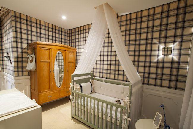 Papel de parede xadrez grande quarto infanti