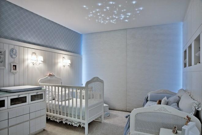 quarto provençal azul de bebê