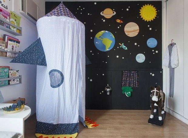 quarto de bebê espaço sideral