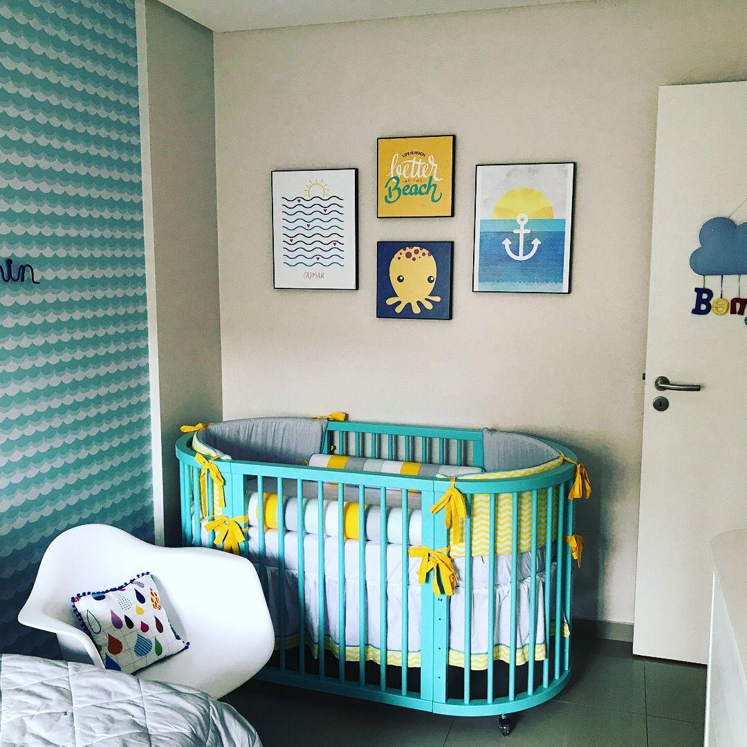 quarto infantil de bebê menino praiano