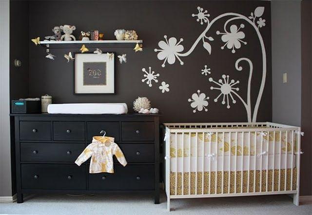quarto de bebê menino preto