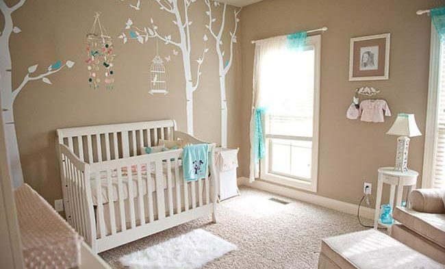 quarto neutro de bebê azul tiffany