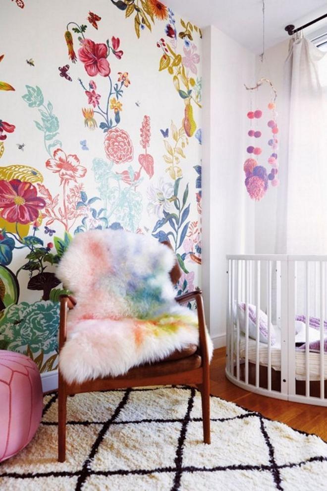 quarto de bebê floral pink flores