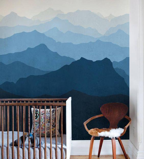 decoração de quarto de bebê azul
