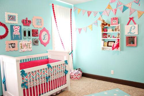 quarto rosa e azul