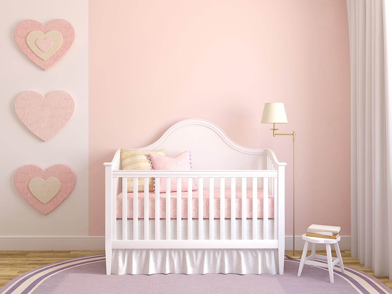 quarto de bebe menina rosa pastel