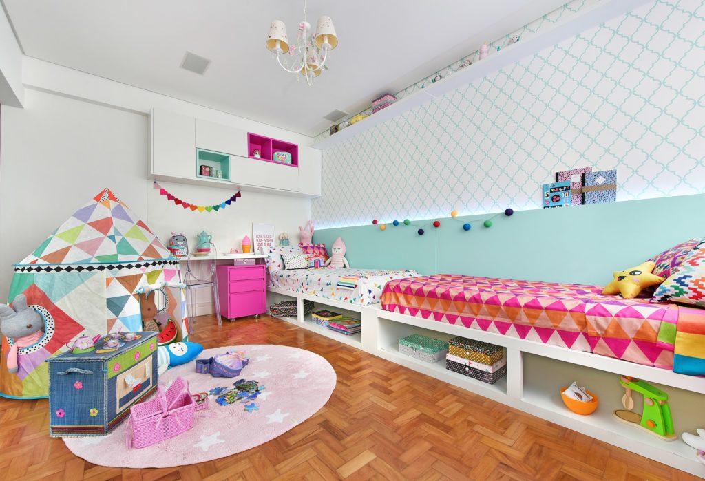 quarto de criança meninas colorido e divertido