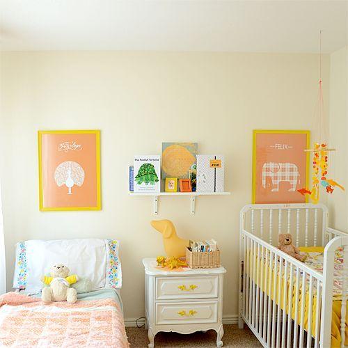 quarto bebê e criança amarelo