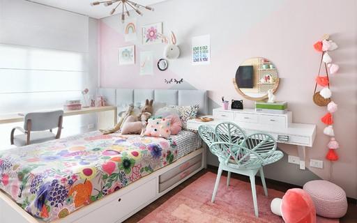 quarto de criança menina colorido e rosa