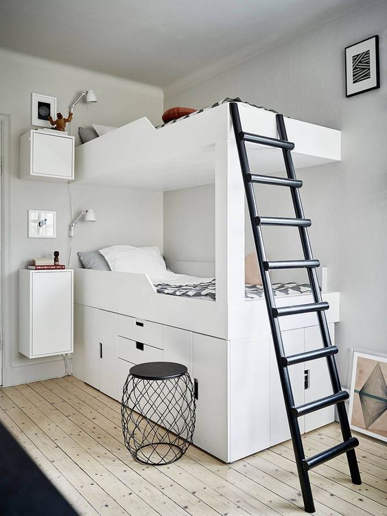quarto infantil minimalista branco