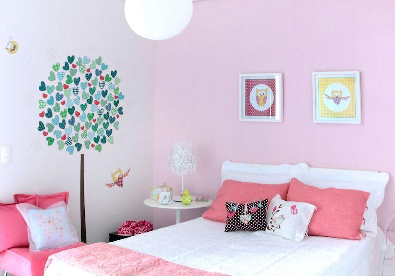 Quadro para quarto de menina rosa.