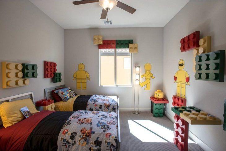 Decoração infantil com inspiração no  jogo Lego.
