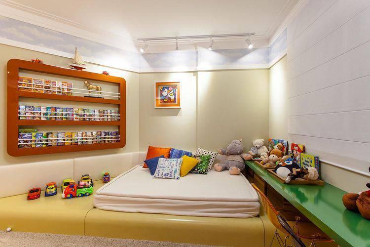 Decoração moderna para quarto infantil.