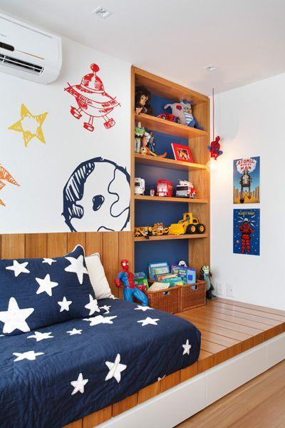 quarto de menino planejado espaço.