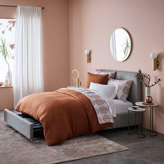 quarto rosa millenial e marrom