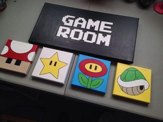 Quadros decorativos Super Mario.