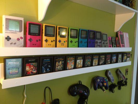 Coleção de Game Boy Nintendo.
