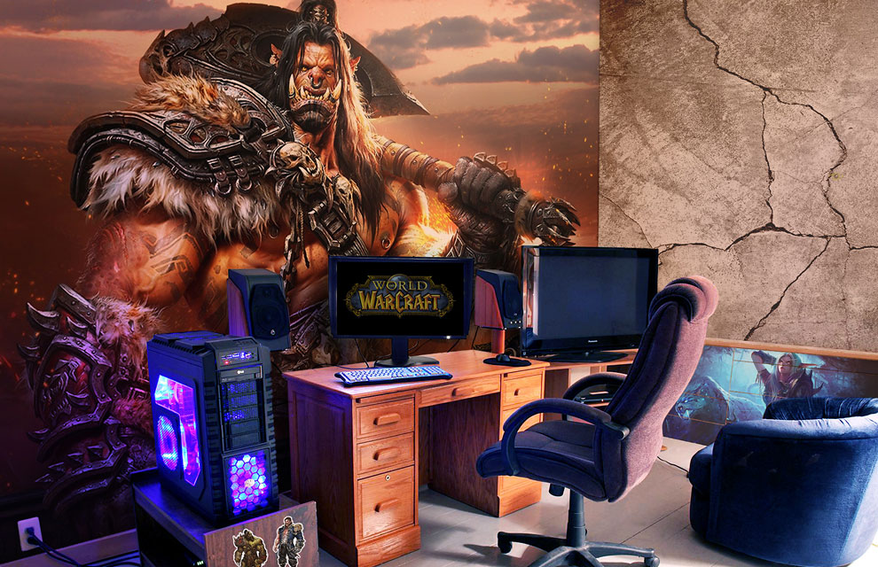 Quarto gamer Warcraft.