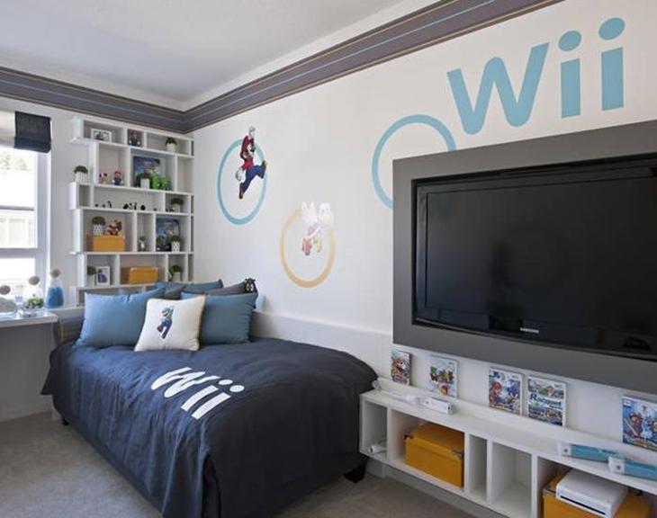 Quarto gamer Nintendo Wii.