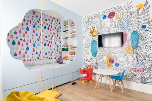 quarto infantil planejado com marcenaria lúdica
