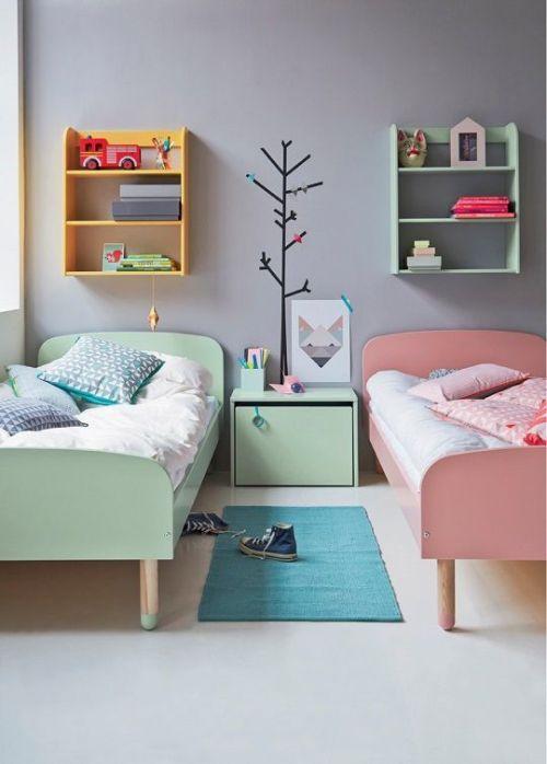 quarto de menino e menina decorado.