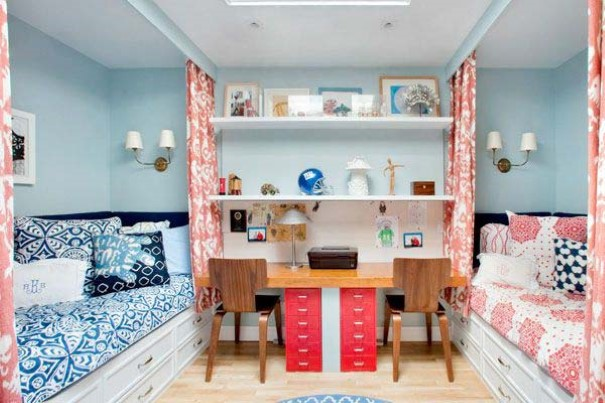 quarto de criança para menino e menina rosa e azul