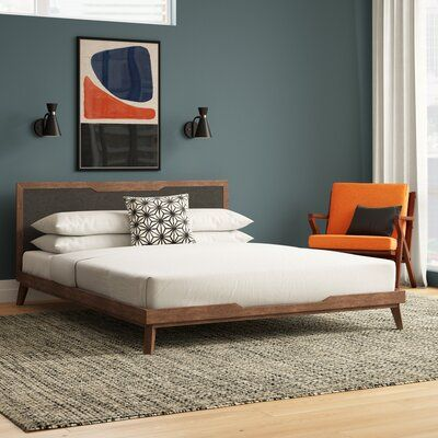 quarto masculino neutro azul e laranja