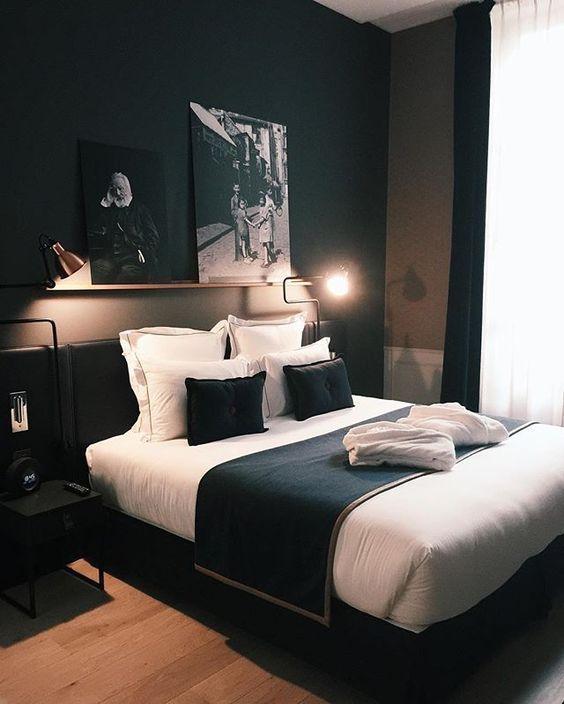 quarto moderno preto com branco