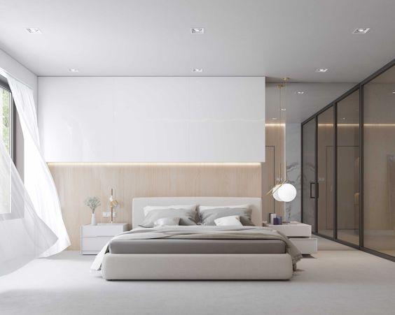 quarto masculino minimalista