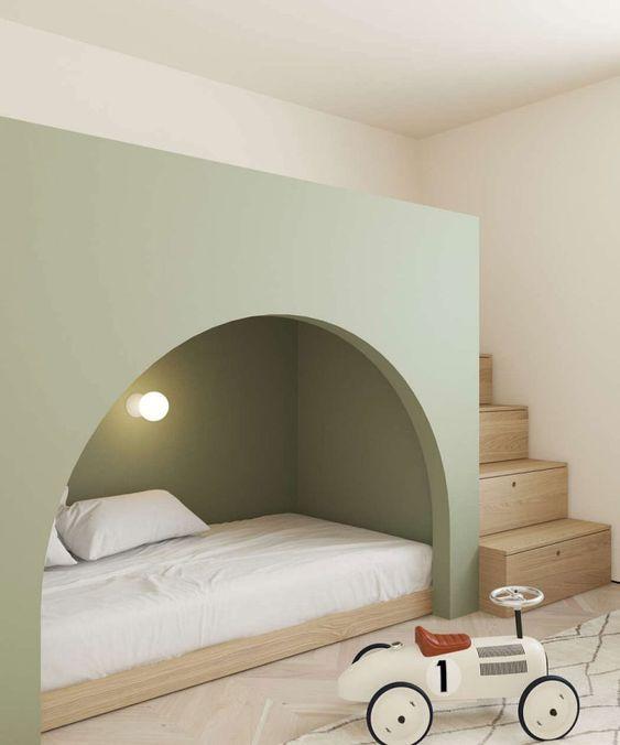 quarto de criança minimalista escandinavo moderno