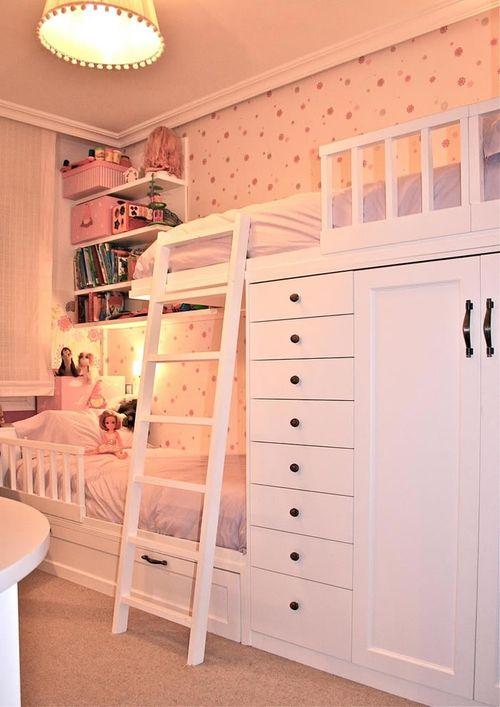 beliche com armário e cômoda integrado
