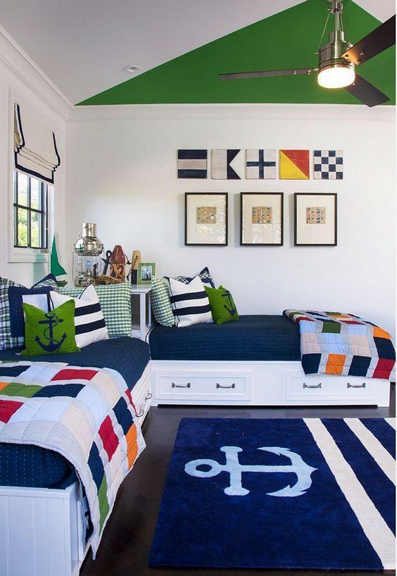 camas com gaveteiros colorido