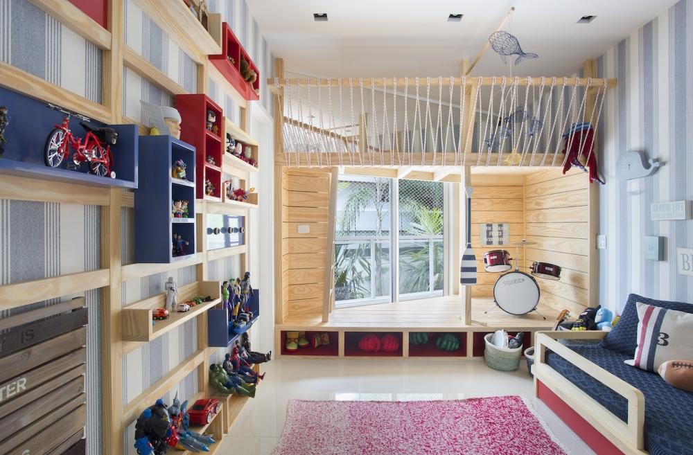 quarto infantil planejado com palco musical