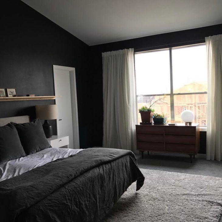 Decoração minimalista preto e cinza.