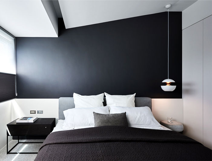 Decoração minimalista preto e branco.