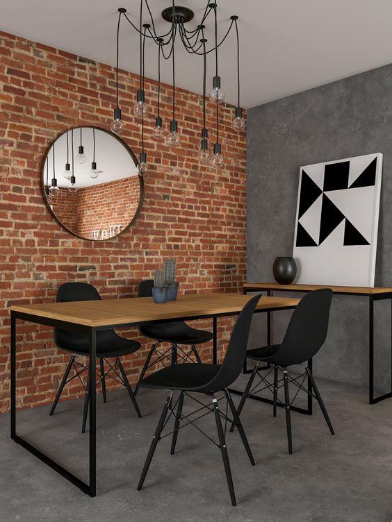 sala de jantar pequena industrial