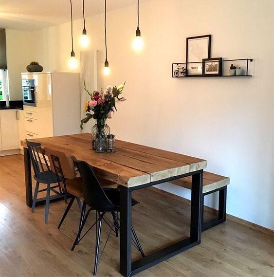 pedentes simples e mesa industrial