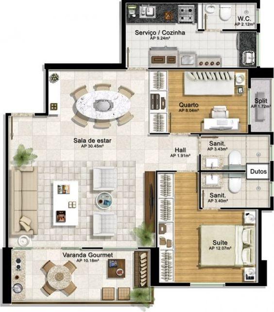 casa com closet e varanda gourmet