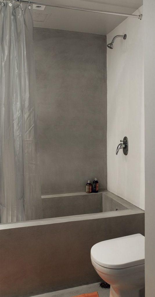 box com cortina transparente