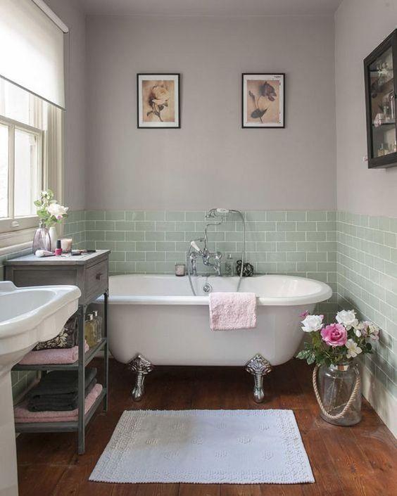 moderno com meia parede de azulejo