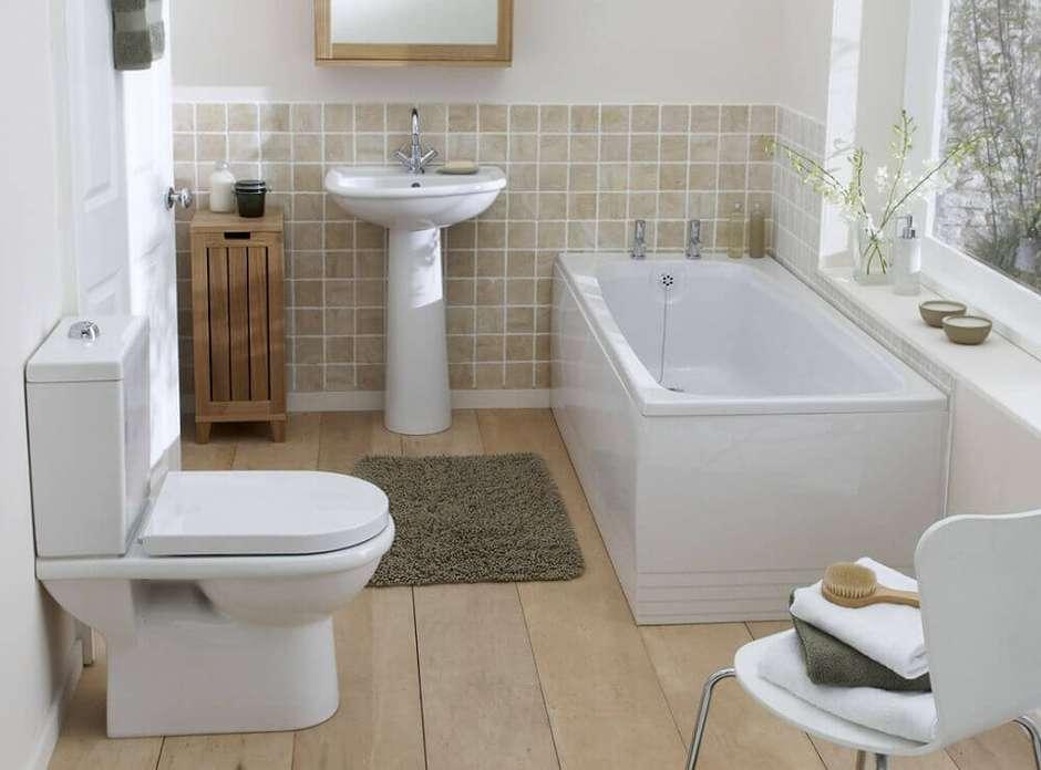 banheiro simples com pia de coluna