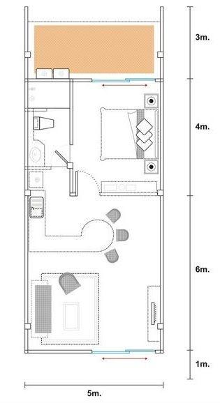 projeto de casa com cozinha americana