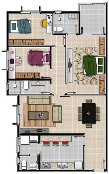 casa com 3 dormitórios com 3 quartos