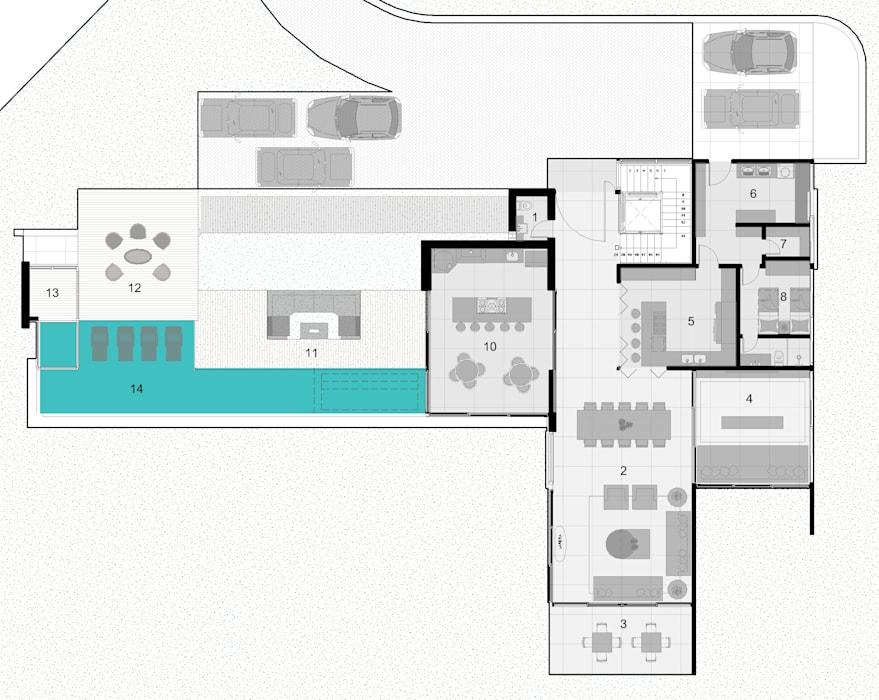 casa com piscina e duas garagens