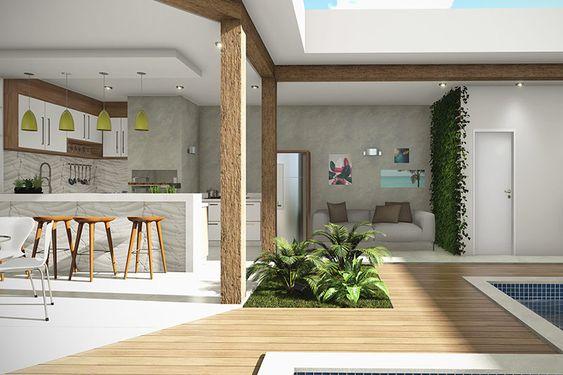 varanda projeta de madeira