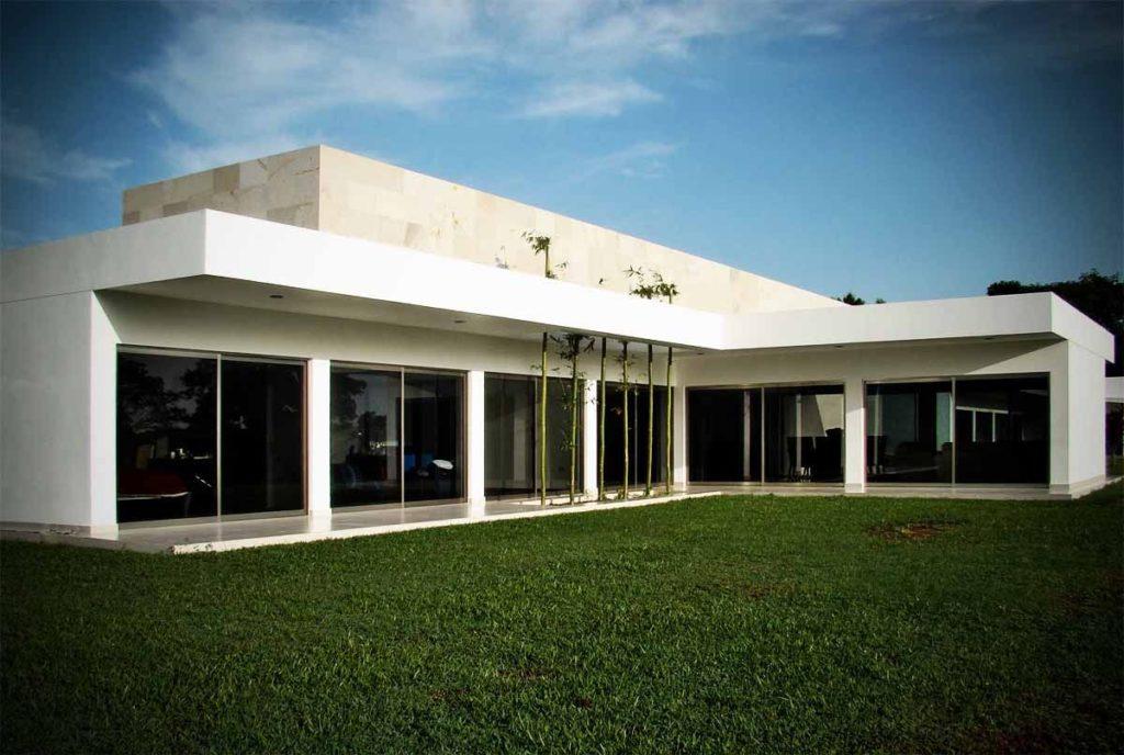 casa em l minimalista