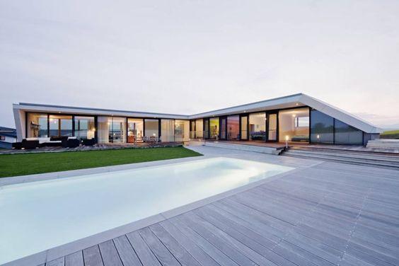 casa em l moderna